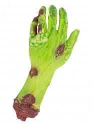 Vihreä zombin käsi 26x8x4 cm halloween