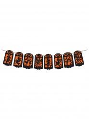 Oranssimusta halloween-banneri 360 X 19 cm