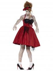 Pelottavan zombin 50- luvun naamiaisasu naiselle