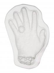Kädenmuotoinen läpinäkyvä hyytelövuoka