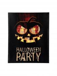 Mustaoranssi halloween-seinäkoriste 40x50 cm