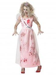 Tanssiaisten kuningattaren zombi- naamiaisasu naiselle halloween