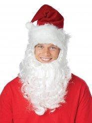 Joulupukin pipo ja valkoinen parta
