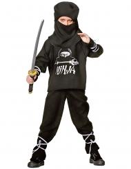 Mustavalkoinen ninjan naamiaisasu lapselle