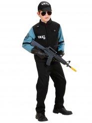 Sinimusta SWAT- naamiaisasu pojalle
