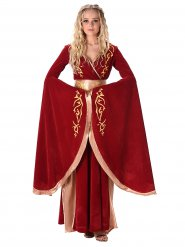 Keskiaikaisen kuningattaren naamiaisasu naiselle