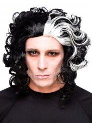 Mustavalkoinen Halloween peruukki