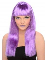 Violetti peruukki otsotukalla