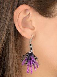 Violetit noidan käsi- korvakorut halloweeniksi 6,5 x 5 x 1 cm
