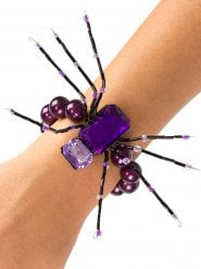 Violetti hämähäkkirannekoru 13 cm