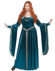 Plus-kokoinen keskiaikaisen prinsessan naamiaisasu naiselle