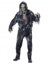 Harmaa zombiasu miehelle