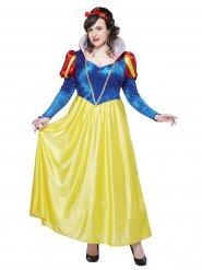 Lumikin sinikeltainen mekko naiselle