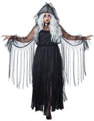 Elegantti kummitus - halloween asu isot koot