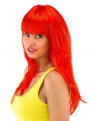 Punainen otahiuksellinen peruukki naiselle