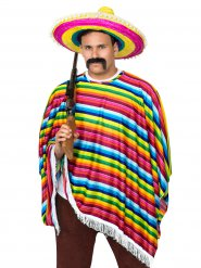 Monivärinen meksikolainen naamiaisasu aikuiselle