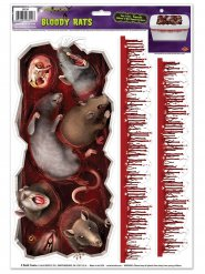 Monsterirotat ja veritahrat- tarrat 3 osaa 30x43 cm