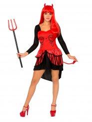 Paholainen pukeutuu mekkoon - aikuisten Halloween asu