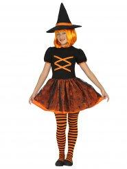 Oranssi Halloween noita - Lasten Halloween asu