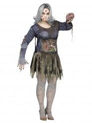 Pelottava zombie - Halloween asu aikuisille isot koot