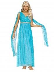 Sinisen jumalattaren mekko naiselle