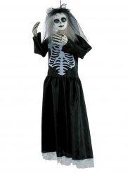 Halloween- musta luurankoleskinukke 91 cm