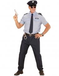 Sininen poliisin naamiaisasu miehelle