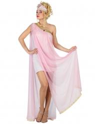 Vaaleanpunaisen roomalaisen naamiaisasu naiselle
