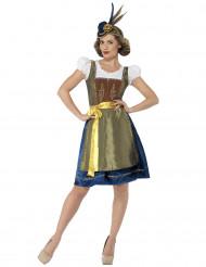 Sinivihreä Oktoberfest-mekko aikuisille