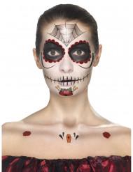 Hämähäkki-meikkisetti naiselle Dia de los meurtos