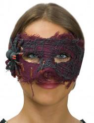 Violetti kangassilmikko hämähäkillä naiselle halloween