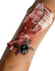 Verinen haavahiha ja hämähäkki aikuiselle halloween