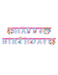 Happy Birthday-banneri yksisarvisilla 1.79 cm