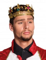 Tekojalokivillä koristeltu kruunu aikuisille