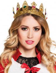 Kuningattaren kruunu tekojalokivilla aikuiselle
