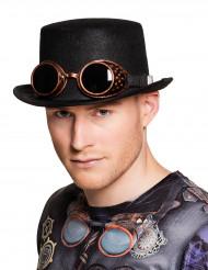 Hattu ja Steampunk- aurinkolasit aikuiselle