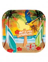Beach Party - pahvilautaset 23 cm 6 kpl