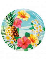 Havaiji - pahvilautaset 23 cm