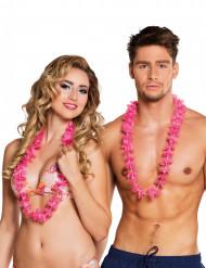 Vaaleanpunaiset Havaiji- kaulanauhat 25 kpl