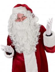 Joulupukin runsas parta ja peruukki