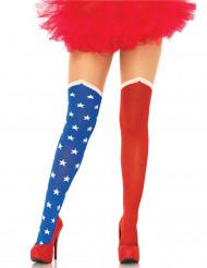 USA:n lippu opaque sukkahousut naiselle