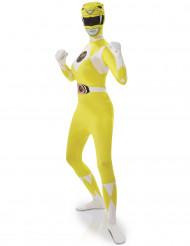Keltainen Power Rangers™ -kokovartaloasu aikuisille
