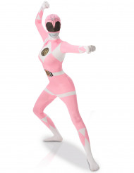 Vaaleanpunainen Power Rangers™ -kokovartaloasu aikusille