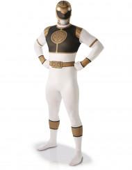 Valkoinen Power Rangers™ -kokovartaloasu aikuisille