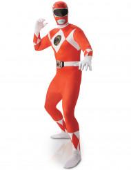 Punainen Power Rangers™ -kokovartaloasu aikusille