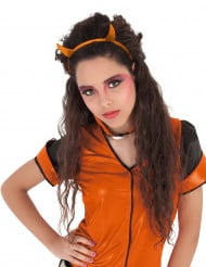 Oranssit pirunsarvet paljeteilla