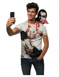 Selfie Draculan kanssa - Halloween T-paita aikuisille