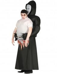Ylävartalo viikatemiehen sylissä- halloween- asu aikuiselle