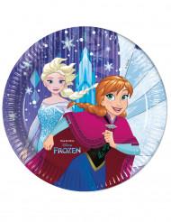 Kahdeksan Frozen™ -paperilautasta 23cm