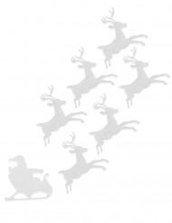 Valkoiset huopaporot 16 cm joulu